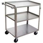 Channel Manufacturing Stainless Utility Bussing Truck, 37 1/4 x 39 1/4 x 22 3/8 inch -- 1 each.