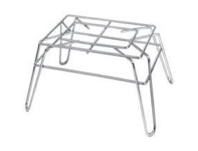 Channel Manufacturing Chrome Plated Steel Wire Display Stand, 10 x 14 x 8 inch -- 1 each.
