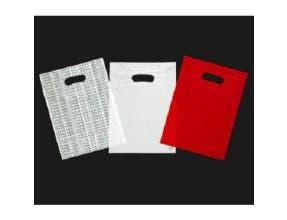 Kal Pac Corporation Patch Handle Merchandise Bag - White, 15 x 18 x 4 inch -- 1000 per case.