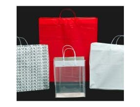 Kal Pac Corporation Plastic Loop Handle Shopping Bag - White, 16 x 6 x 12 x 6 inch -- 300 per case.