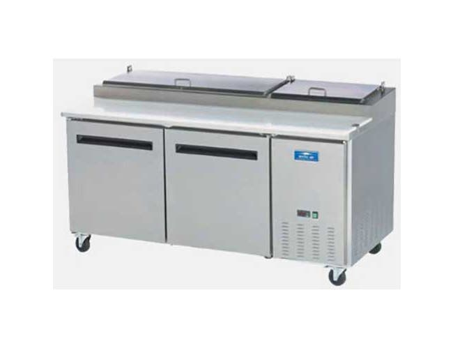 Arctic Air Two Door Pizza Prep Table, 71.00 x 32.25 x 41.00 inch -- 1 each.