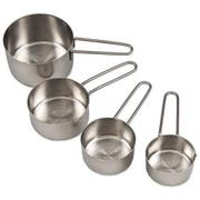 Alegacy Stainless Steel Measuring Cup Set - Long Wire Handle -- 1 set.