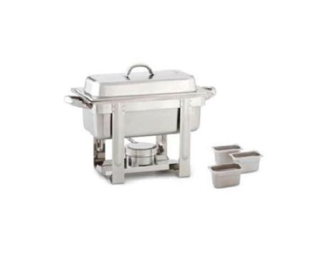Alegacy The Original Six In One Stainless Steel Chafer with Three 88194 Pan, 1/3 x 2 inch -- 1 each.