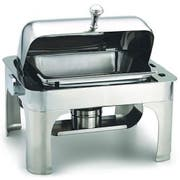 Alegacy Savoir Half Size Stainless Steel Dome Cover Chafer, 17 x 15 1/8 x 15 1/2 inch -- 1 each.