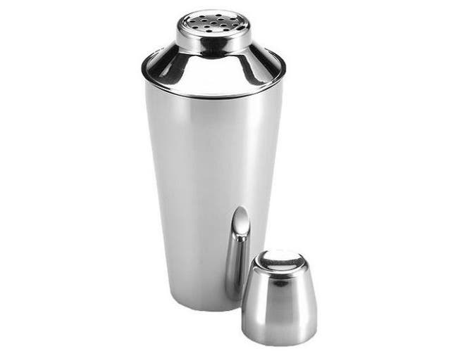 Alegacy Stainless Steel Cocktail Shaker with Cover and Strainer, 30 Ounce Capacity -- 1 each.