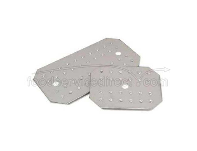 Alegacy 18/8 Stainless Steel Half Size Finger Hole False Bottom Only, 17 x 9 x 9/16 inch -- 1 each.