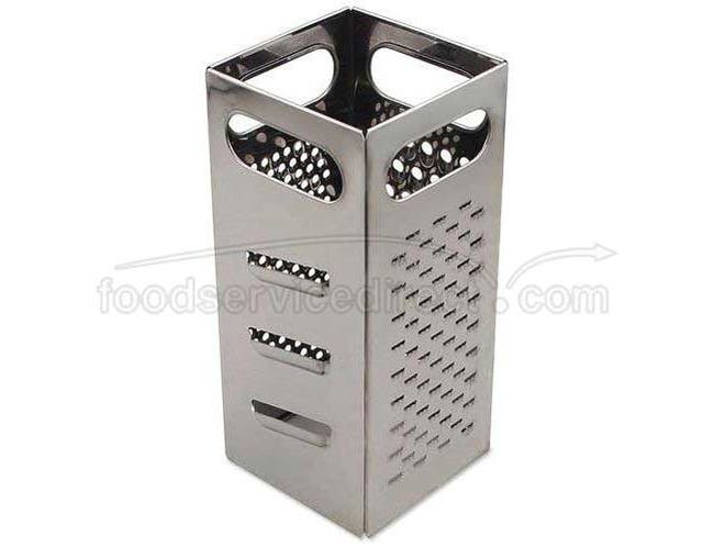 Alegacy Stainless Steel Square Four Surface Grater, 9 inch Height -- 1 each.