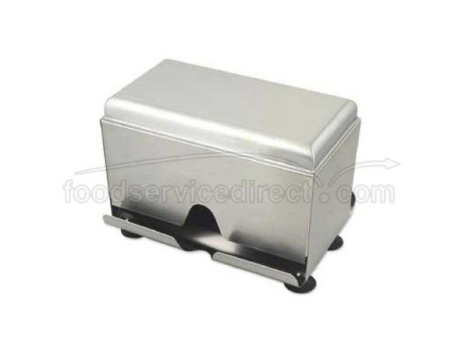 Alegacy 18/8 Stainless Steel Wrapped Straw Dispenser, 7 1/8 x 9 1/2 x 6 1/2 inch -- 1 each.