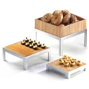 Cal Mil Bamboo Square Change Up Riser Only, 10.5 x 10.5 x 4 inch -- 1 each.
