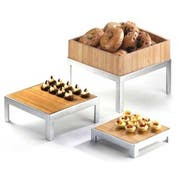 Cal Mil Bamboo Square Change Up Riser Only, 12.5 x 12.5 x 6 inch -- 1 each.