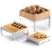 Cal Mil Bamboo Small Square Deep Tray Only, 10 x 10 x 2.625 inch -- 1 each.