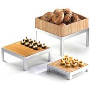 Cal Mil Bamboo Large Square Deep Tray Only, 12 x 12 x 3.125 inch -- 1 each.