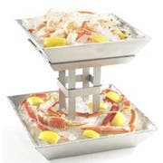 Cal Mil Mission 2 Tier Aluminum Ice Display, 12.625 x 12.625 x 11.5 inch -- 1 each.