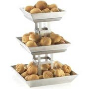 Cal Mil Mission 3 Tier Aluminum Ice Display, 15.5 x 15.5 x 20.25 inch -- 1 each.