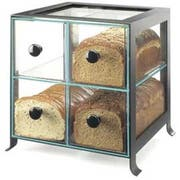 Cal Mil Black Soho 4 Drawer Bread Case, 14 x 13 x 14.125 inch -- 1 each.