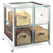 Cal Mil Silver Soho 4 Drawer Bread Case, 14 x 13 x 14.125 inch -- 1 each.