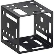 Cal Mil Black Squared Metal Cube Riser, 5 x 5 x 5 inch -- 1 each.