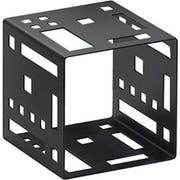 Cal Mil Black Squared Metal Cube Riser, 7 x 7 x 7 inch -- 1 each.