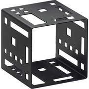 Cal Mil Black Squared Metal Cube Riser, 9 x 9 x 9 inch -- 1 each.