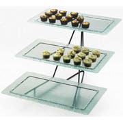 Cal Mil Glacier 3 Tier Rectangle Tray Display, 24.75 x 20.75 x 15.25 inch -- 1 each.