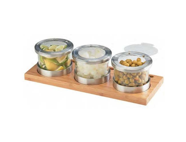 Cal Mil 16 Ounce Mixology Jar with Hinged Stainless Steel Lid, 4.625 inch Dia x 3.25 inch -- 3 per case.