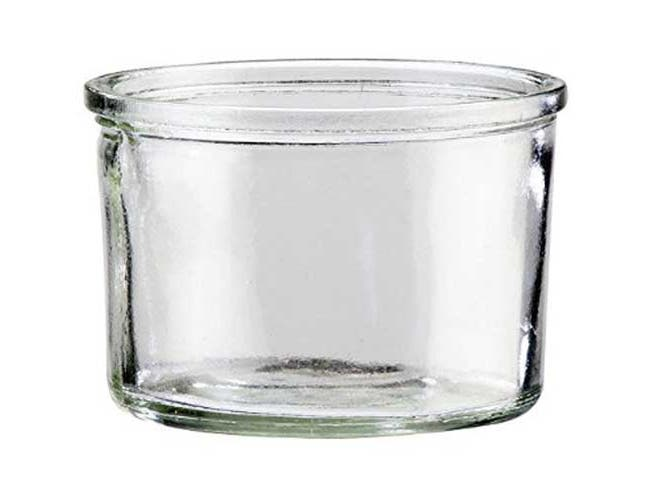Cal Mil Replacement Jar for 1851-5, 5 x 5 x 4 inch -- 3 per case.