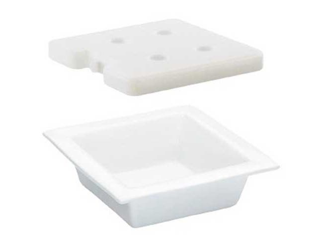 Cal Mil Porcelain Bowl Liner Cold Pack Set, 10 x 10 x 3 inch -- 1 each.