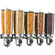 Cal Mil Platinum Wall Mount Free Flow 5 Cylinder Cereal Dispenser, 31 x 6.75 x 19.75 inch -- 1 each.
