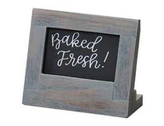 Cal Mil Oak Ashwood Gray Chalkboard Sign, 5 x 2.5 x 4.5 inch -- 6 per case.