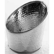 American Metalcraft Hammered Stainless Steel Angled Beverage Tub, 6 inch Dia. -- 24 per case.