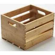 American Metalcraft Bamboo Wood Crate, 10 1/4 inch Length -- 4 per case.