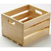 American Metalcraft Natural Wood Crate, 10 1/4 inch Length -- 4 per case.