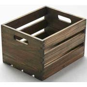 American Metalcraft Vintage Wood Crate, 10 1/4 inch Length -- 4 per case.