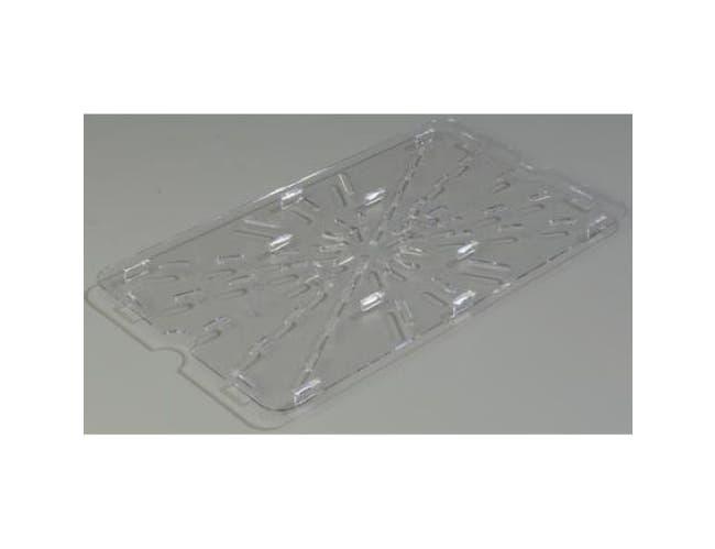 Carlisle Polycarbonate Clear Full Size Drain Shelf Only, 17 3/4 x 9 7/8 inch -- 1 each.
