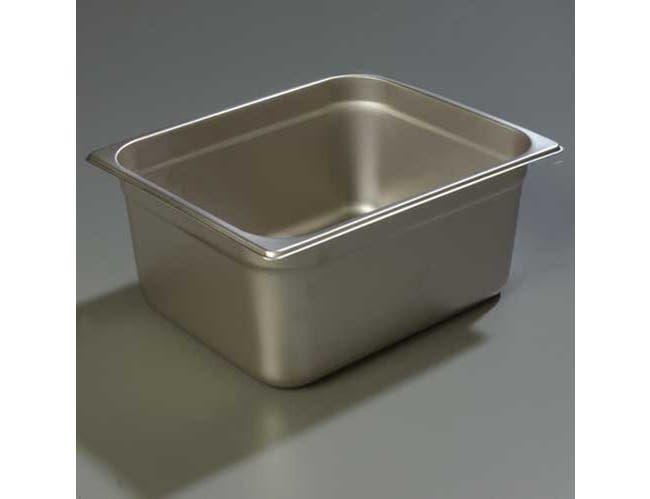 6 inch Depth DuraPan 18-8 Stainless Steel Light Gauge One Half Size Food Pan -- 1 each