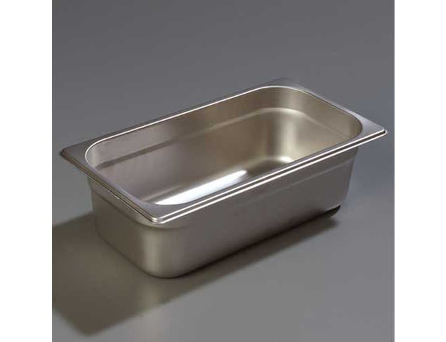 4 inch Depth DuraPan 18-8 Stainless Steel Light Gauge One Third Size Food Pan -- 1 each