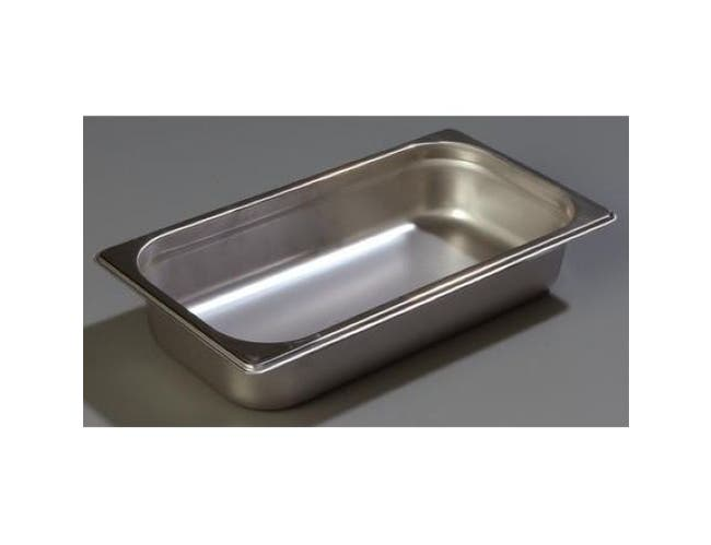 2.5 inch Depth DuraPan 18-8 Stainless Steel Light Gauge One Third Size Food Pan -- 1 each