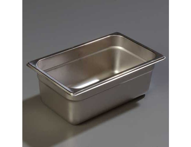 4 inch Depth DuraPan 18-8 Stainless Steel Light Gauge One Quarter Size Food Pan -- 1 each