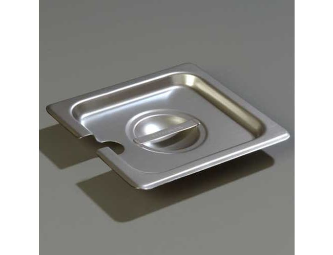 Carlisle DuraPan 18-8 Stainless Steel One Sixth Size Slotted Cover Only -- 1 each.
