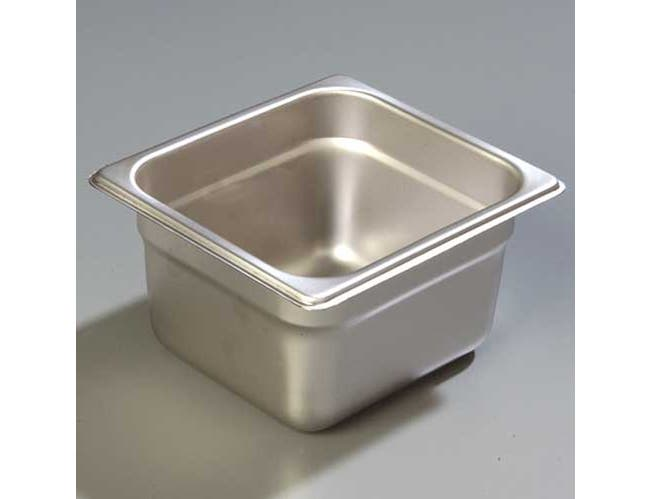 4 inch Depth DuraPan 18-8 Stainless Steel Light Gauge One Sixth Size Food Pan -- 1 each