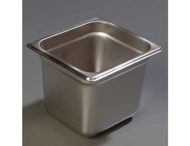 6 inch Depth DuraPan 18-8 Stainless Steel Light Gauge One Sixth Size Food Pan -- 1 each