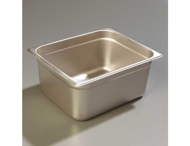 6 inch Depth DuraPan 18-8 Stainless Steel Heavy Gauge One Half Size Food Pan -- 1 each