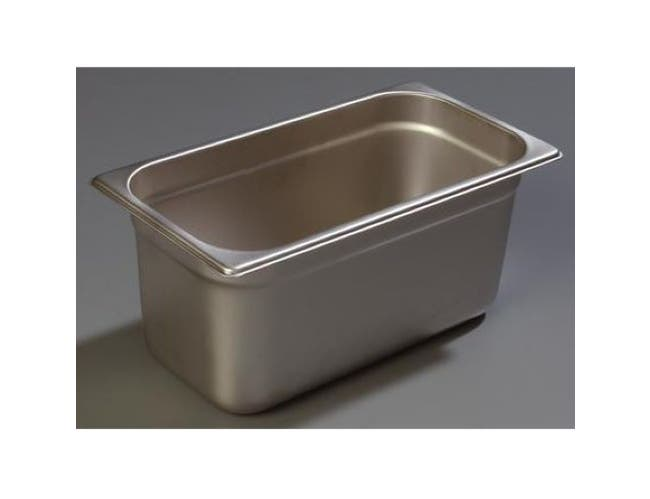 2.5 inch Depth DuraPan 18-8 Stainless Steel Heavy Gauge One Third Size Food Pan -- 1 each