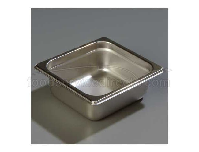 2.5 inch Depth DuraPan 18-8 Stainless Steel Heavy Gauge One Sixth Size Food Pan -- 1 each