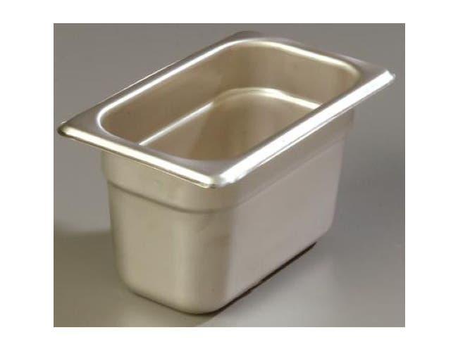 2.5 inch Depth DuraPan 18-8 Stainless Steel Heavy Gauge One Ninth Size Food Pan -- 1 each