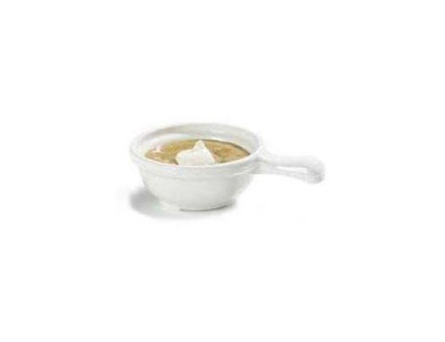 Carlisle Polycarbonate White Handled Soup Bowl, 12 Ounce -- 1 each.
