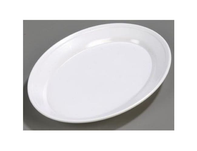 Carlisle Melamine White Oval Platter, 14.75 x 10.5 inch -- 1 each.