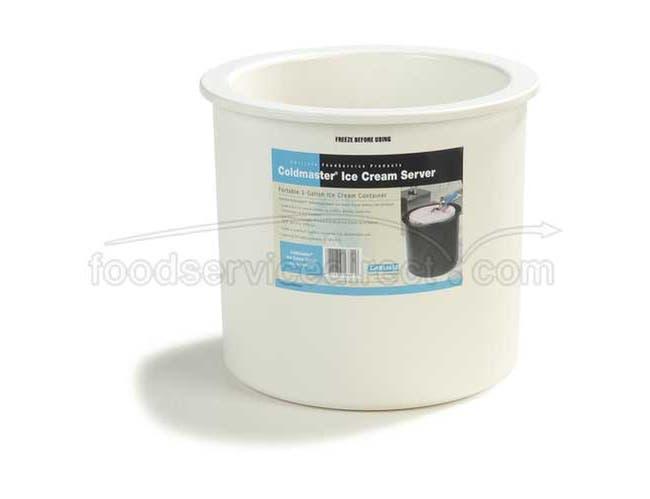 White ABS Coldmaster Ice Cream Server -- 1 each