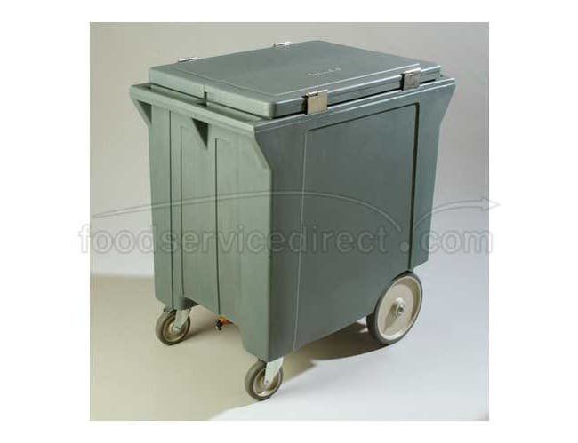 Slate Cateraide 200 Pound Ice Caddy with Ice Caddy Shelf 10 inch Wheels 2 Swivel Casters One with Brake -- 1 each