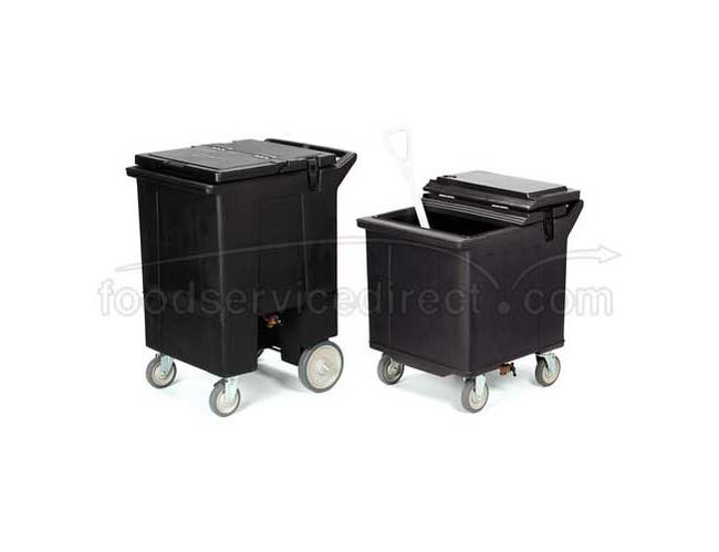 Brown Cateraide 125 Pound Ice Caddy with Nylex Latches 4 Swivel Casters One with Brake -- 1 each